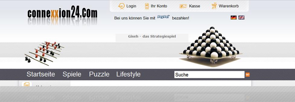 connexxion24.com - Onlineshop für hochwertige Brettspiele